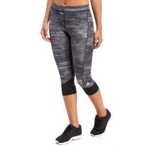 Adidas XS Techfit Capri Leggings Gray Black NWOT